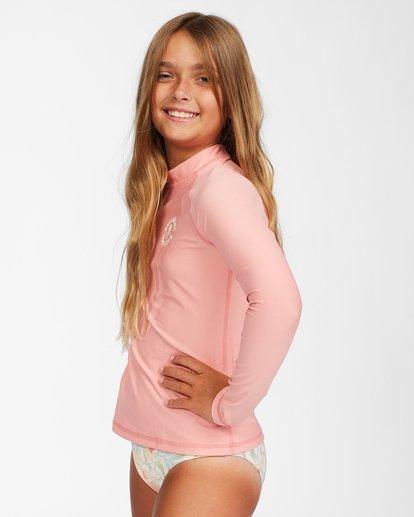 1 Girls' Lil Love Palms Long Sleeve Rashguard Orange ABGWR00112 Billabong