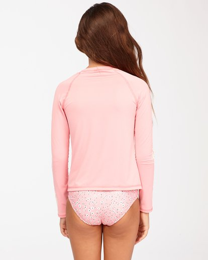 2 Girls' Feelin Ditsy Long Sleeve Rashguard Pink ABGWR00118 Billabong