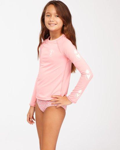 1 Girls' Feelin Ditsy Long Sleeve Rashguard Pink ABGWR00118 Billabong