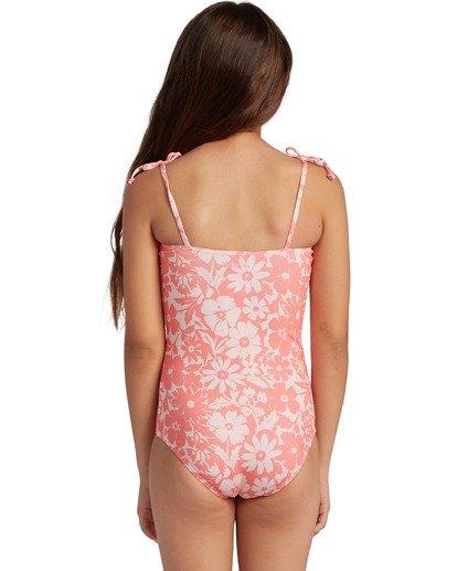 2 Girl's Way To Love One Piece Swimsuit Grey ABGX100106 Billabong