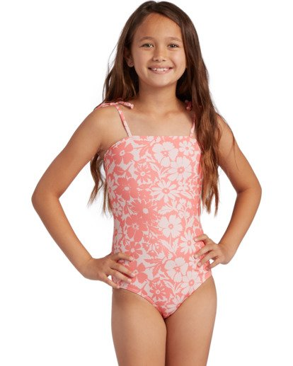 0 Girl's Way To Love One Piece Swimsuit Grey ABGX100106 Billabong