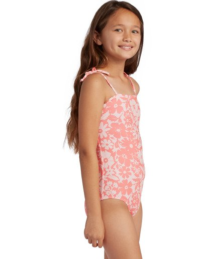 1 Girl's Way To Love One Piece Swimsuit Grey ABGX100106 Billabong