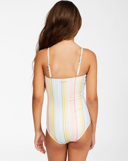 2 Girls' Stoked On Sun One-Piece Swimsuit Grey ABGX100112 Billabong