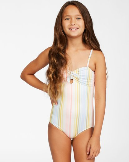 0 Girls' Stoked On Sun One-Piece Swimsuit Grey ABGX100112 Billabong