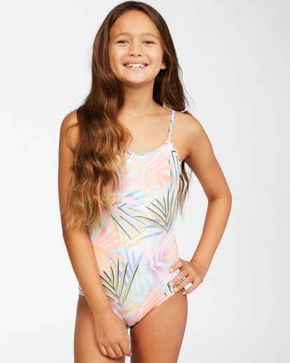 0 Girls' Tropic Party One-Piece Swimsuit Grey ABGX100113 Billabong