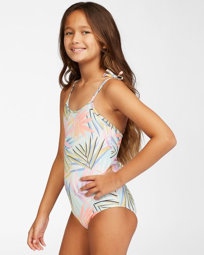 1 Girls' Tropic Party One-Piece Swimsuit Grey ABGX100113 Billabong