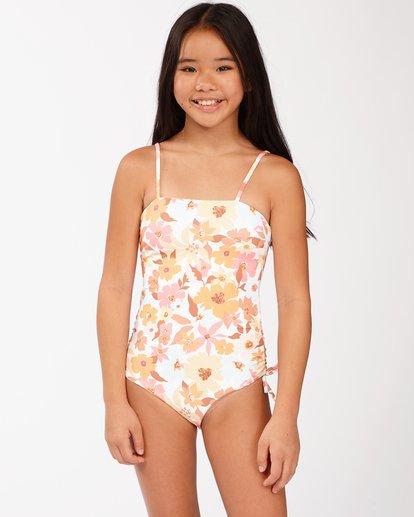 0 Girls' Walk In The Sun One-Piece Swimsuit Grey ABGX100115 Billabong