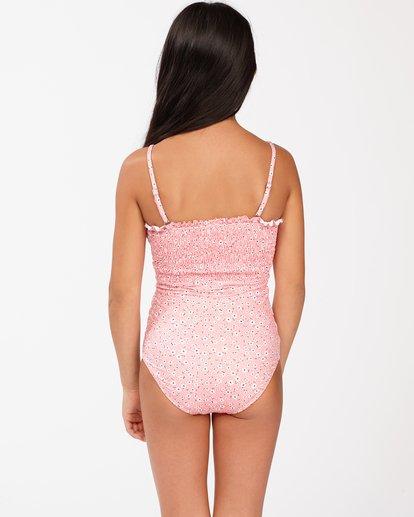 1 Girls' Feelin Ditsy One-Piece Swimsuit Pink ABGX100116 Billabong