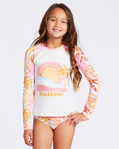 0 Oceans Away Rashguard Set Grey ABGX200104 Billabong