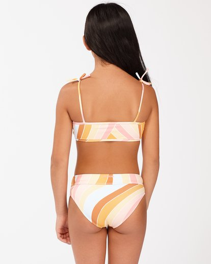 1 Girls' Sea Of Gold Strappy Tank Bikini Set Grey ABGX200129 Billabong