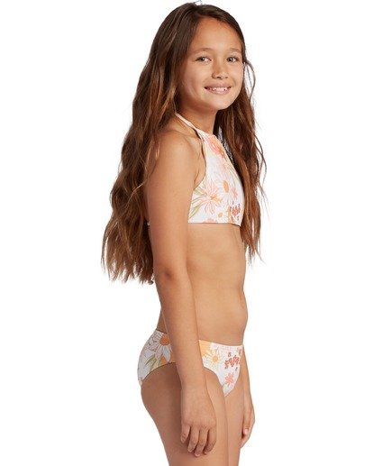 2 Girl's Sunshine High Neck Bikini Set Grey ABGX200130 Billabong