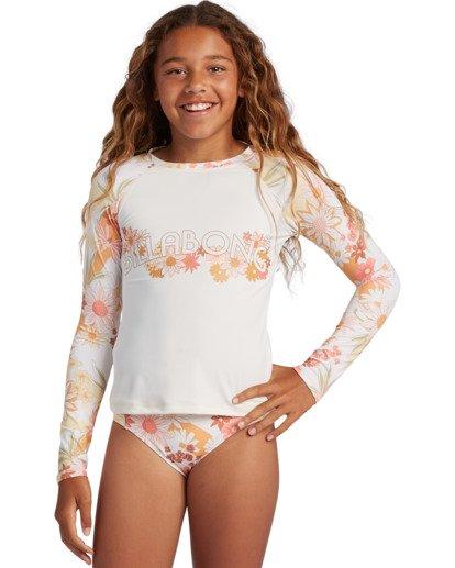 0 Girl's Sunshine Rashguard Swim Set Grey ABGX200141 Billabong