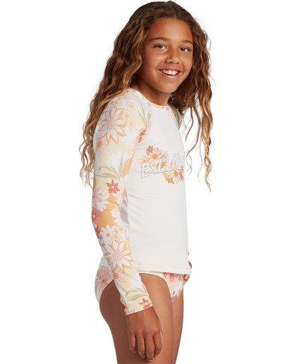 2 Girl's Sunshine Rashguard Swim Set Grey ABGX200141 Billabong
