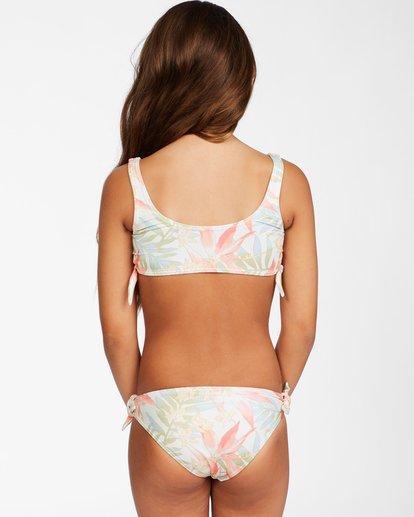 2 Girl's Lil Love Palms High Neck Bikini Set Grey ABGX200143 Billabong