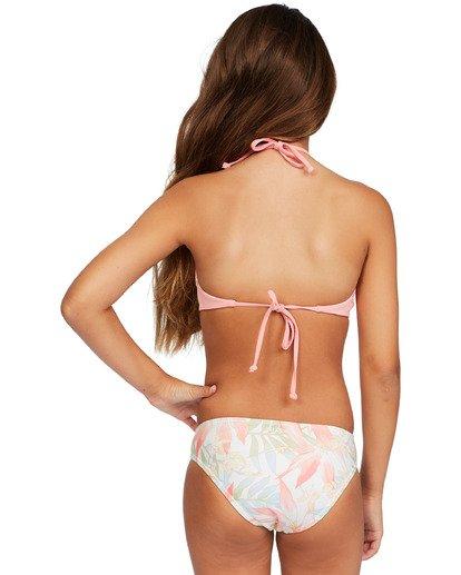 3 Girl's Lil Love Palms High Neck Bikini Set Grey ABGX200143 Billabong