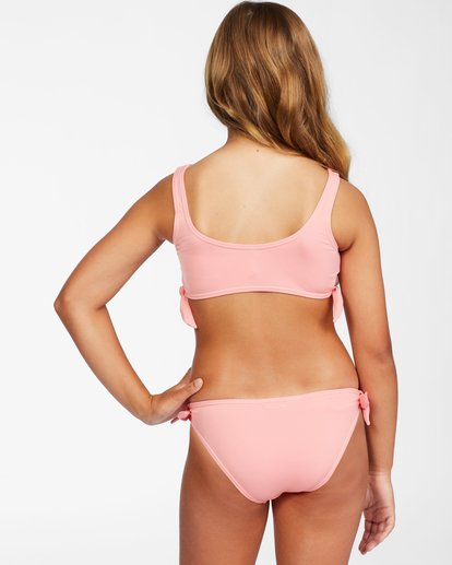2 Girl's Lil Love Palms Tank Bikini Set Orange ABGX200144 Billabong
