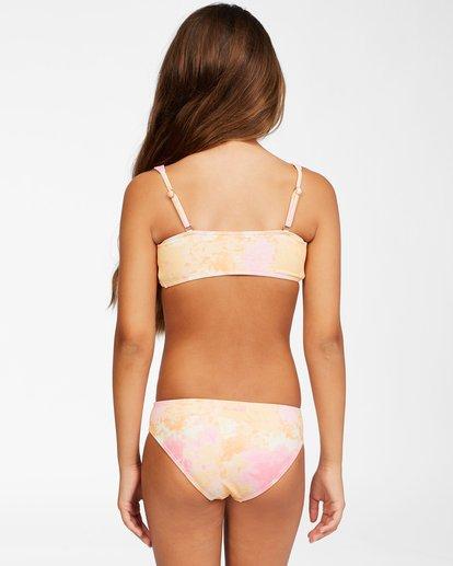 2 Girls' Chasing Sunshine Knotted Bikini Set Grey ABGX200153 Billabong