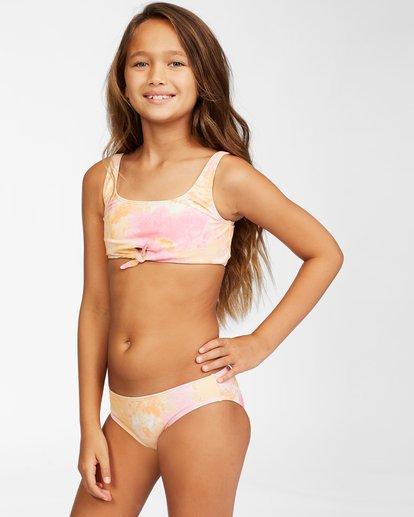 1 Girls' Chasing Sunshine Knotted Bikini Set Grey ABGX200153 Billabong