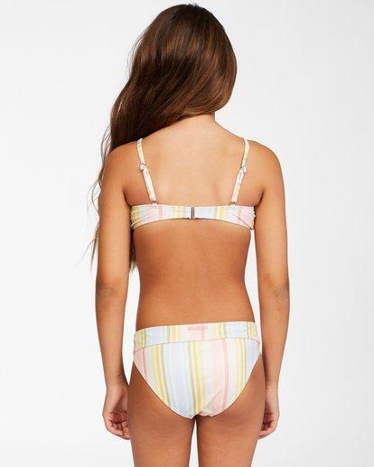 2 Girls' Stoked On Sun Hanky Tie Bikini Set Grey ABGX200155 Billabong