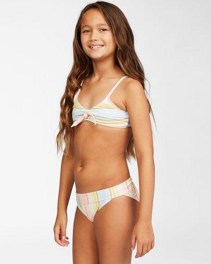 1 Girls' Stoked On Sun Hanky Tie Bikini Set Grey ABGX200155 Billabong