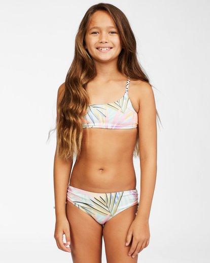 4 Girls' Tropic Party Reversible Trilet Bikini Set Grey ABGX200157 Billabong