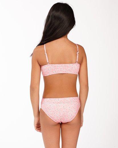 1 Girls' Feelin Ditsy Drawstring Tank Bikini Set Pink ABGX200165 Billabong