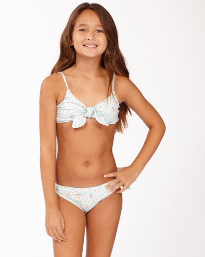 0 Girls' Picked For You Trilet Bikini Set Blue ABGX200167 Billabong