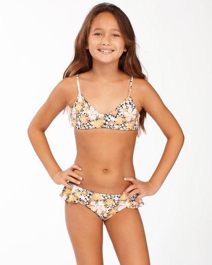 0 Girls' Sweet Dreams Reversible Trilet Bikini Set Grey ABGX200169 Billabong