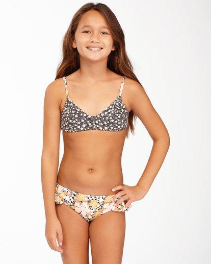 1 Girls' Sweet Dreams Reversible Trilet Bikini Set Grey ABGX200169 Billabong