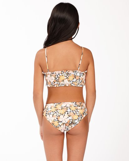 2 Girls' Sweet Dreams Reversible Bandeau Bikini Set Grey ABGX200170 Billabong