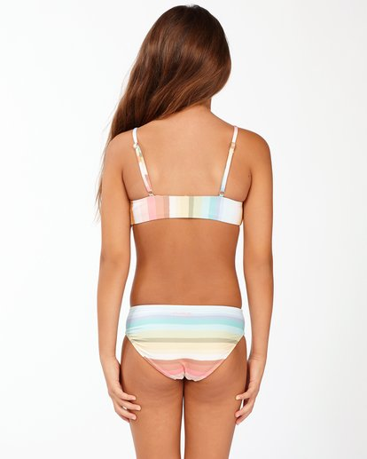 1 Girls' Chasing Summer Trilet Bikini Set Grey ABGX200171 Billabong