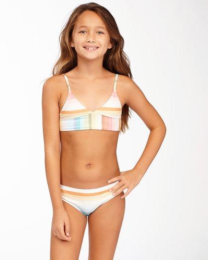 0 Girls' Chasing Summer Trilet Bikini Set Grey ABGX200171 Billabong