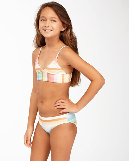 2 Girls' Chasing Summer Trilet Bikini Set Grey ABGX200171 Billabong