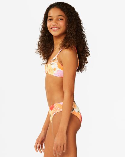 3 Girls' So Groovy Trilet Bikini Set Grey ABGX200176 Billabong