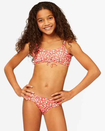 0 Girls' Sweet Blooms Cami Tank Bikini Set Red ABGX200178 Billabong