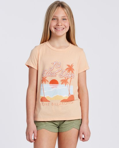 3 No Bad Days T-Shirt Orange ABGZT00101 Billabong