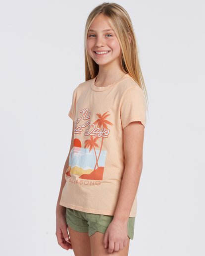 4 No Bad Days T-Shirt Orange ABGZT00101 Billabong