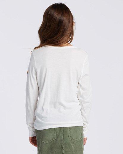 2 Sweet Scribble Long Sleeve T-Shirt White ABGZT00115 Billabong