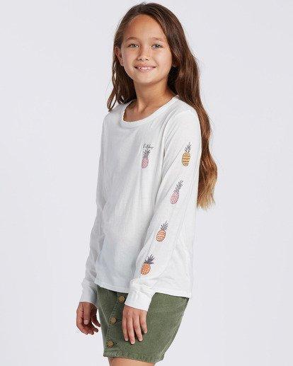 1 Sweet Scribble Long Sleeve T-Shirt White ABGZT00115 Billabong