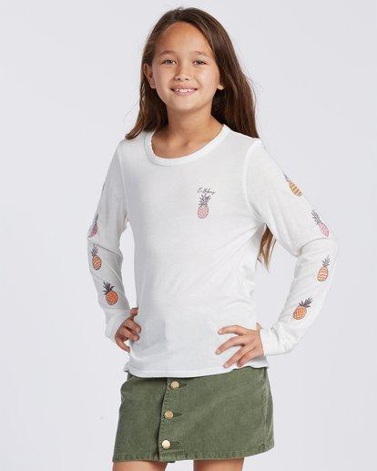 3 Sweet Scribble Long Sleeve T-Shirt White ABGZT00115 Billabong