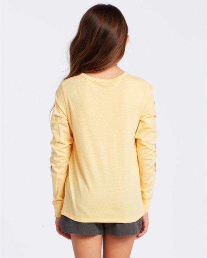 2 Love More Long Sleeve T-Shirt Yellow ABGZT00118 Billabong