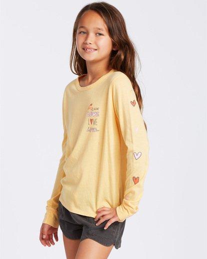 1 Love More Long Sleeve T-Shirt Yellow ABGZT00118 Billabong