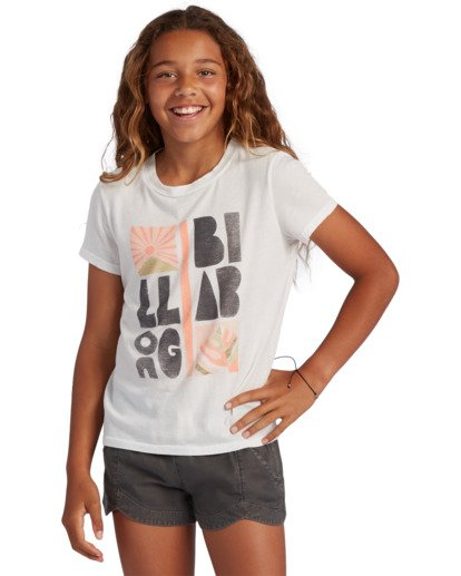 0 Girl's Take A Hike Short Sleeve T-Shirt White ABGZT00120 Billabong