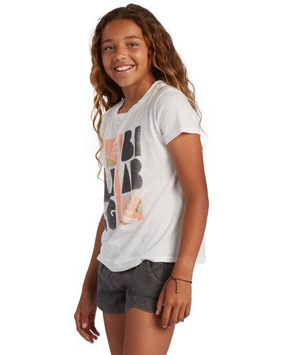 1 Girl's Take A Hike Short Sleeve T-Shirt White ABGZT00120 Billabong