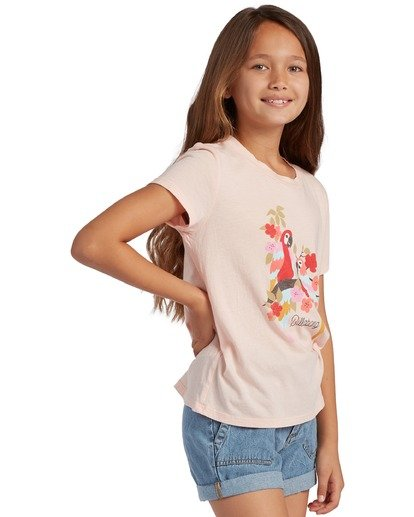 1 Girl's Rainbow Parrots T-Shirt Grey ABGZT00125 Billabong
