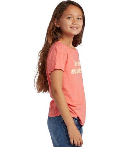 1 Girl's Be Sunshine Short Sleeve T-Shirt Multicolor ABGZT00126 Billabong