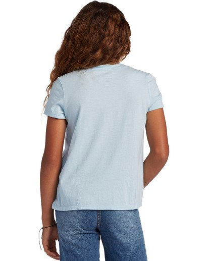2 Girl's Beach Club Short Sleeve T-Shirt Blue ABGZT00127 Billabong