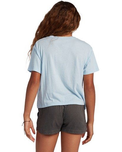2 Girl's Pineapple Party T-Shirt Blue ABGZT00134 Billabong