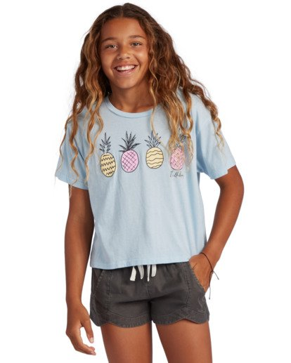 0 Girl's Pineapple Party T-Shirt Blue ABGZT00134 Billabong
