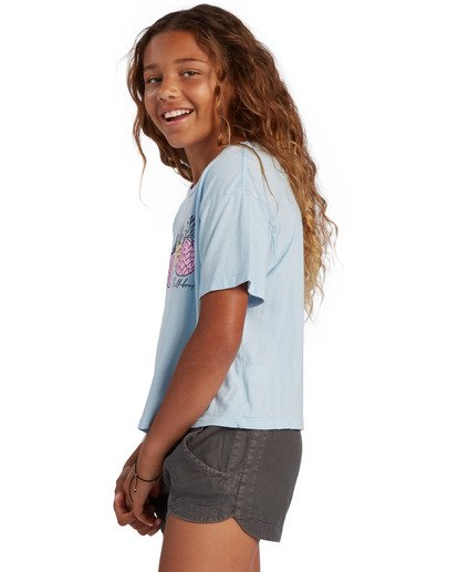 1 Girl's Pineapple Party T-Shirt Blue ABGZT00134 Billabong